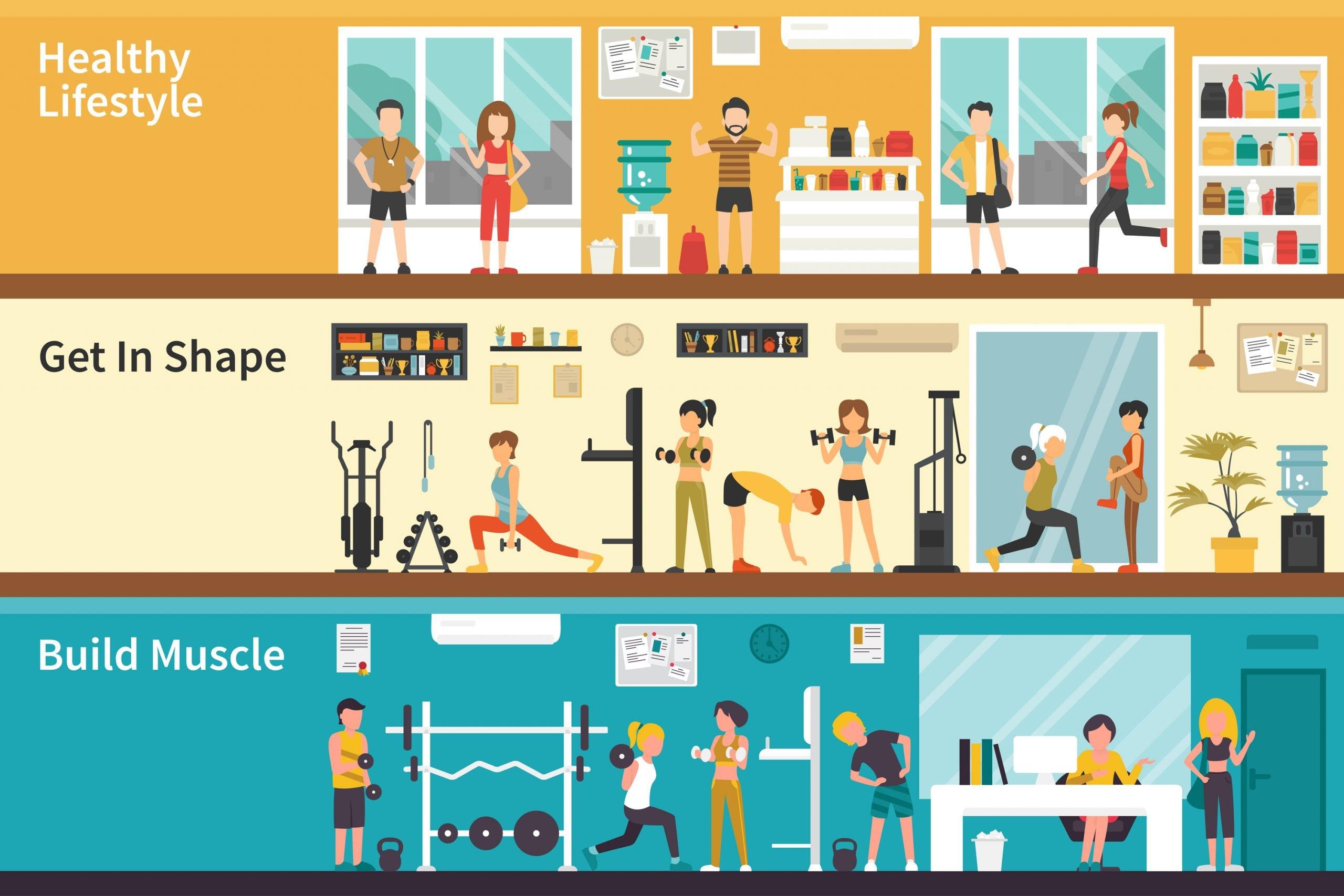 Gym Illustration scaled